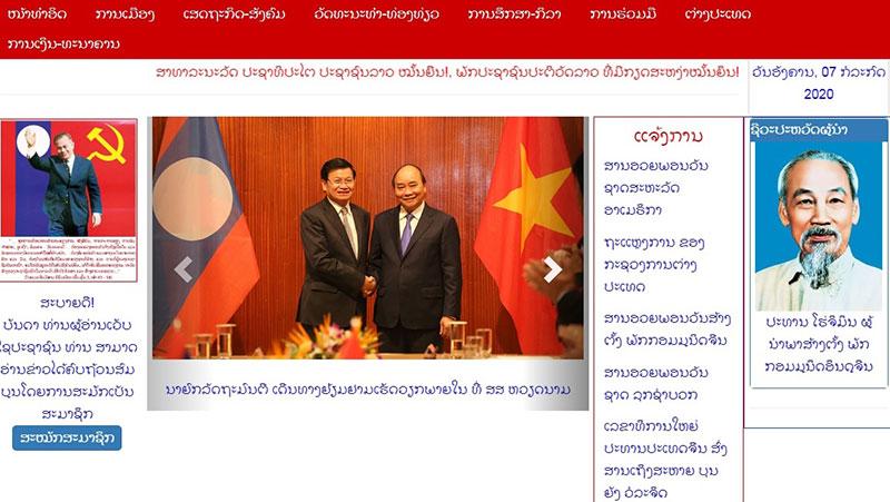 Truyền thông Lào đưa tin chuyến thăm Việt Nam của Thủ tướng Lào -0