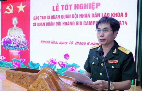 Đại tá Nguyễn Như Thắng phát biểu tại buổi lễ.