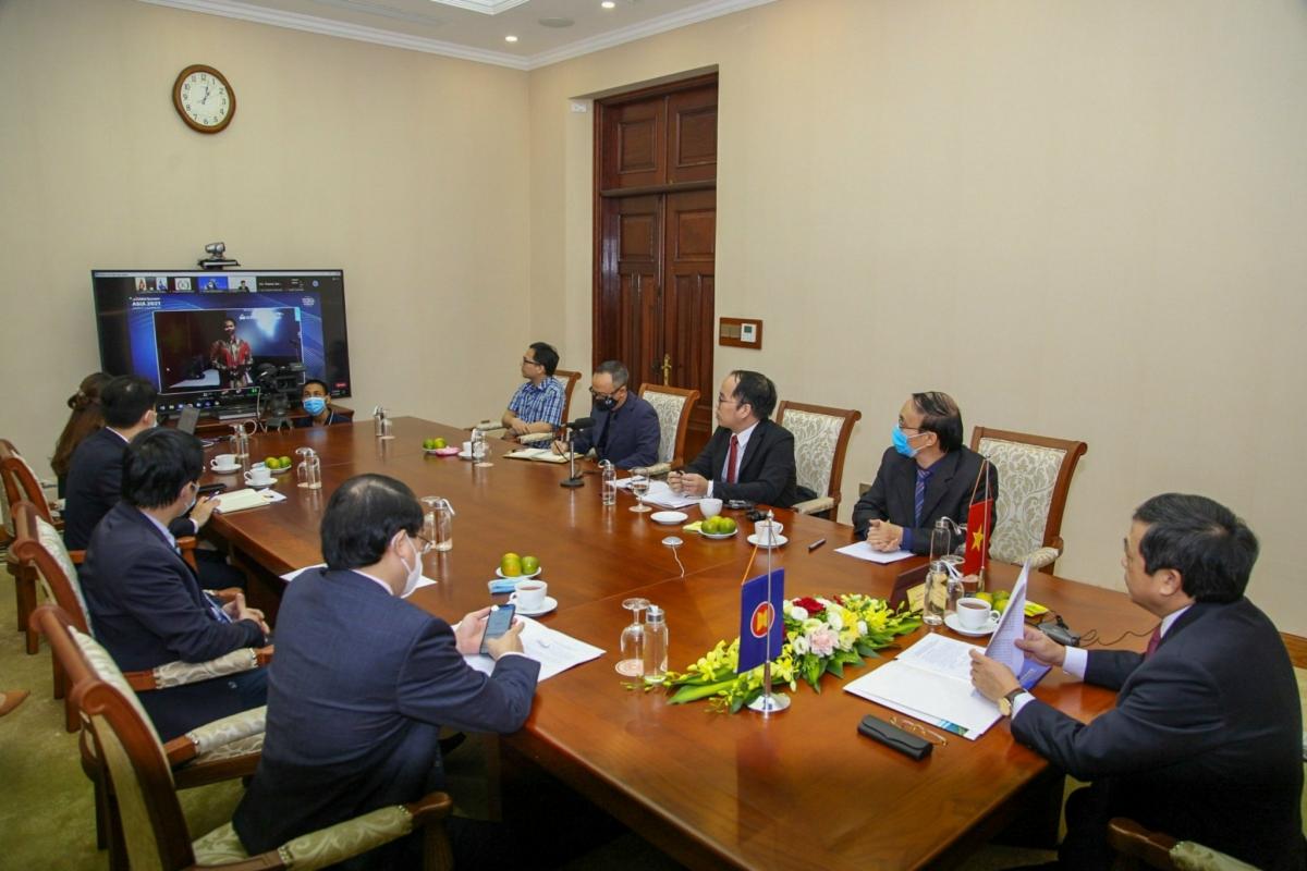 Đoàn đại biểu Việt Nam tham dự Diễn đàn Du lịch Toàn cầu 2021. Nguồn: Tổng cục Du lịch